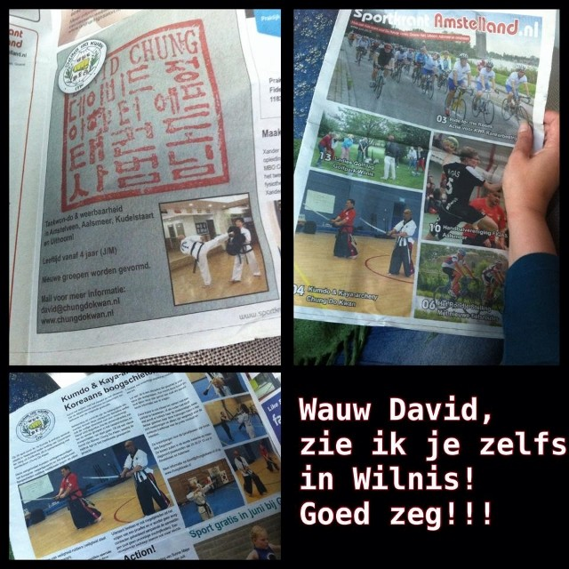 Kummooyeh in Netherlandian newspaper (검무예 소식: 네덜랜드 지역 신문)