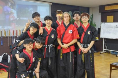 Instructor Michael from Australia visits Korea for the MTP course. 호주 검무예 사범 지도자 교육을 위해 한국 방문..