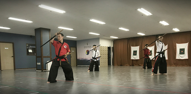 A Taekwondo master from Singapore visits the Kummooyeh HQ training center for the Kummooyeh instructor course.