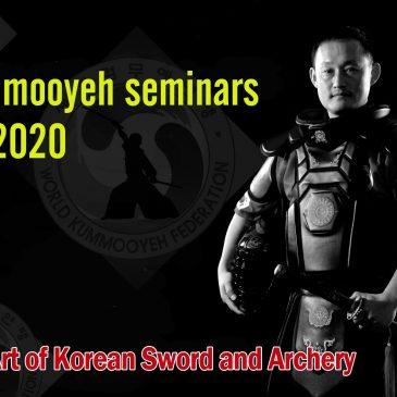 Scheduled Kummooyeh seminars for 2020                                 (2020년 해외 검무예 세미나 및 대회 일정)