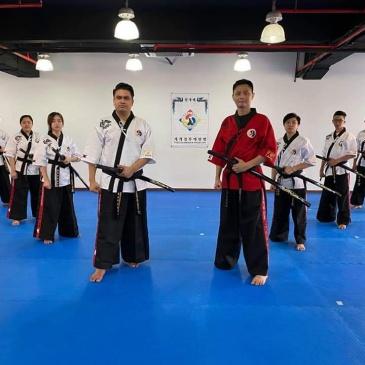 2nd group of Kummooyeh instructors at Master Hanseng Lai's dojang in Singapore.