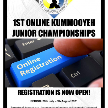 1ST ONLINE KUMMOOYEH JUNIOR CHAMPIONSHIPSREGISTRATION IS NOW OPEN!