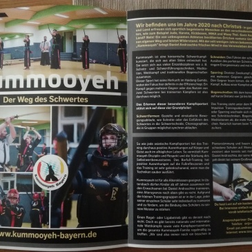 Kummooyeh introduction on a German magazine.